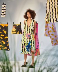 Tereza Rosalie Kladosova Green Wave Floral Dress