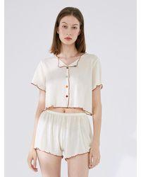 NOT JUST PAJAMA | The Venus Second-skin Wool Pyjama Set - White