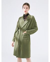 NOT JUST PAJAMA | Cosy Comfy Mid-length Warm Robe - Green