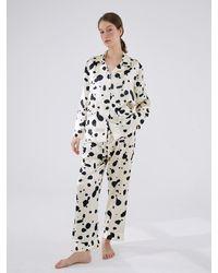 NOT JUST PAJAMA | Dalmatian Edition Silk Pyjama Set - Multicolour