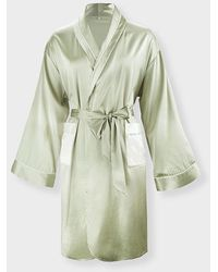 NOT JUST PAJAMA | French Style Silk Robe - Green