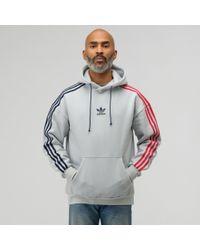 0f078fc565f8 Lyst - adidas Originals Trefoil Hoodie (clear Pink) Men s Sweatshirt ...