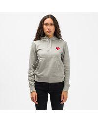 COMME DES GARÇONS PLAY - Hooded Sweatshirt - Lyst