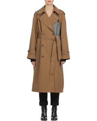 Maison Margiela - Oversized Trench W/ Cut-out Detail - Lyst