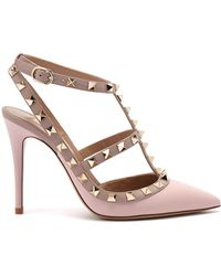 Valentino - Women's Shoes Rockstud Ankle Strap Water Rose/poudre - Lyst