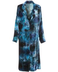 Raquel Allegra - Velvet Tie-dye Trench Robe - Lyst