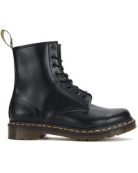Dr. Martens - Dr. Martens Black 1460 Smooth Leather Ankle Boots - Lyst