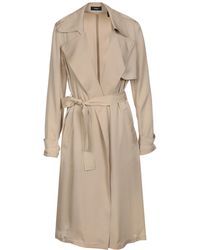 Theory - Silk Belted Trench Coat - Lyst