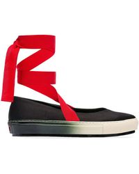 Marni - Women's Shoes Satin Silk Ballet Flat With Laces - Lyst