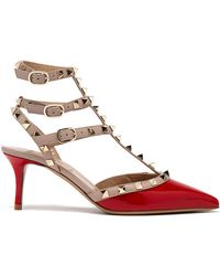 Valentino - 17ss Women's Shoes Rockstud Ankle Strap Red/poudre - Lyst