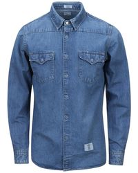 """Bedwin And The Heartbreakers - L/s Denim Westhern Shirt """"pork"""" - Lyst"""