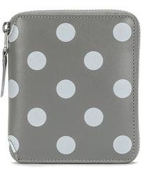 Comme des Garçons - Dots Printed Full Zip Wallet - Lyst