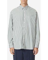Sunnei - Oversized Stripe Shirt W/ Pocket - Lyst