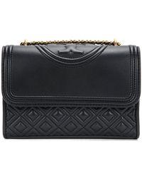 bd7240b6ac3 Lyst - Tory Burch  dena  Foldover Flap Shoulder Bag in Black