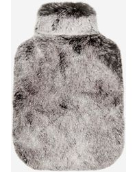 N.Peal London Fur Hot Water Bottle Cover Charcoal Grey Tipped Fur