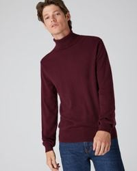 N.Peal London The Trafalgar Polo Neck Cashmere Jumper - Red
