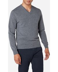N.Peal Cashmere - The Burlington V Neck 1ply Cashmere Sweater - Lyst