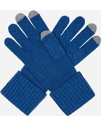 N.Peal Cashmere - Ribbed Cashmere Gloves - Contrast Tip - Lyst
