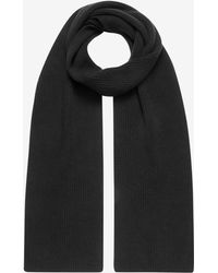 N.Peal Cashmere Chunky Ribbed Cashmere Scarf - Grey