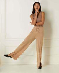 N.Peal London Exposed Seam Cashmere Trouser - Multicolour