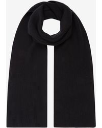 N.Peal Cashmere Chunky Ribbed Cashmere Scarf - Black