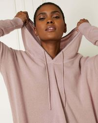 N.Peal Cashmere Metal Edge Hooded Cashmere Jumper - Multicolour
