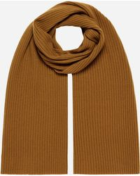 99167647b65 Vince Ribbed Marl Cashmere Scarf in Black for Men - Lyst