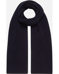 N.Peal Cashmere Chunky Ribbed Cashmere Scarf - Blue