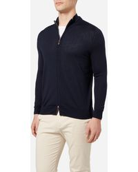 N.Peal Cashmere - The Hyde Fine Gauge Zip Sweater - Lyst
