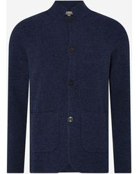 N.Peal Cashmere Milano Cashmere Jacket - Blue