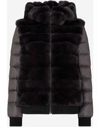 N.Peal Cashmere Detachable Sleeve Rex Jacket - Grey
