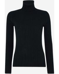 N.Peal Cashmere Roll Neck Cashmere Jumper - Black