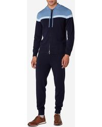N.Peal Cashmere - Stripe Hooded Zip Cashmere Cardigan - Lyst