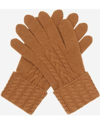 N.Peal Cashmere - Cable Cashmere Gloves - Lyst