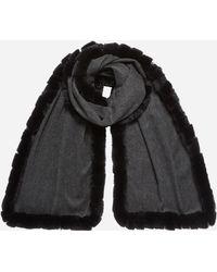 Modal Panel Fur Cashmere Cutuli In Cult Gray Scarf 'bustride' Rabbit OwCvfAq