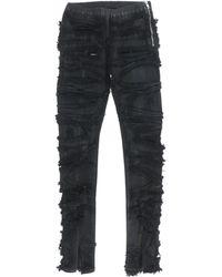 Rick Owens DRKSHDW Slit Front LEGGING - Black