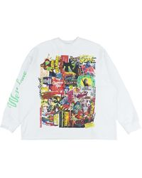 we11done Horror Collage Top - White