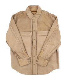 Midorikawa Leather Shirt (mid21ss-sh01) - Natural