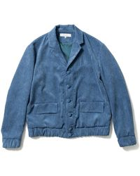 Sasquatchfabrix. 70-21 Corduroy Sports Jacket - Blue