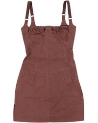 CHARLOTTE KNOWLES Dress With Riveted Square Cups & Elastic Straps - Multicolour