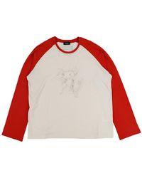 we11done Monster Long Sleeve Raglan T-shirt - Red