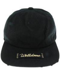 we11done Damaged Logo Cap - Black