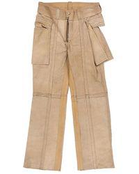 Midorikawa Leather Pant (mid21ss-p01) - Natural