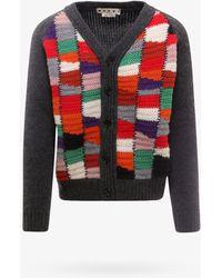 Marni Color Block V-neck Knit Cardigan - Multicolor