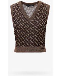 Versace Vest - Metallic