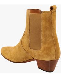Closed Suede Ankle Boots - Brown