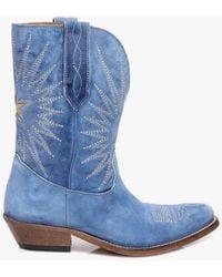 Golden Goose Deluxe Brand Low Wish Star Boots - Blue