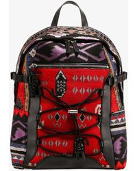 Etro Pattern Jacquard Backpack - Red