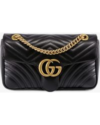 Gucci - GG Marmont Velvet Mini Shoulder Bag - Lyst