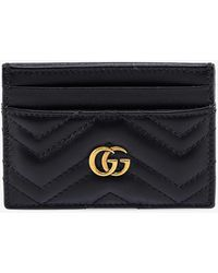 Gucci GG Marmont Leather Card Holder - Black